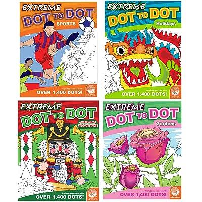 MindWare Extreme Dot to Dot Coloring Set of 4: Favorites Books: Toys & Games