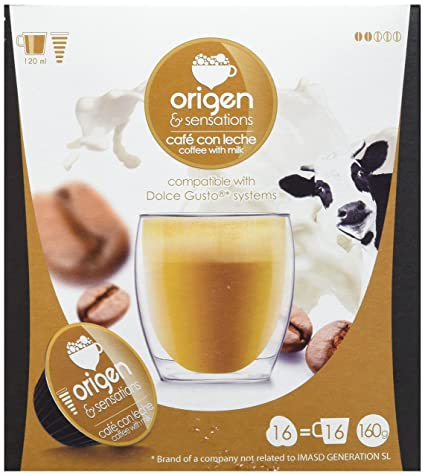 Origen & Sensations Café con Leche en Cápsulas - 16 Cápsulas