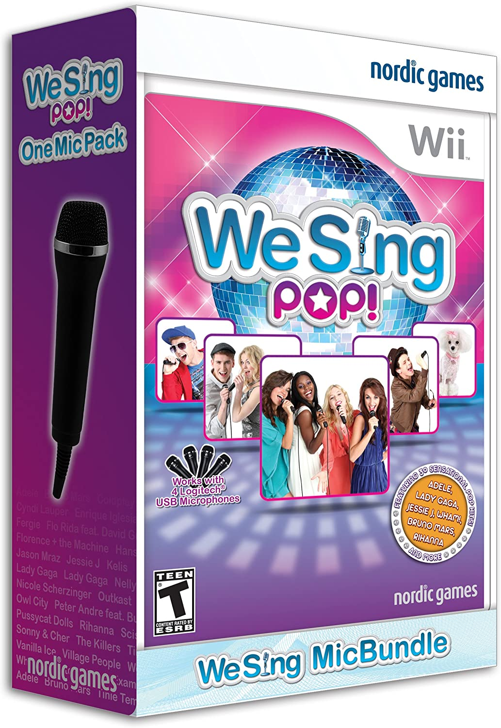 Wii Logitech Mic Wiring Diagram Trusted Diagrams Amazon Com We Sing Pop With 1 Microphone Nintendo Legacy Of Rh
