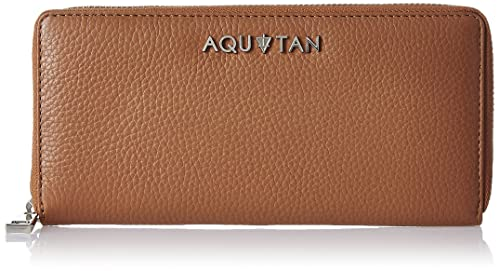 Aquatan Jetsetter Leather Zip Around Women's Wallet (Tan) (AT-W02-04)
