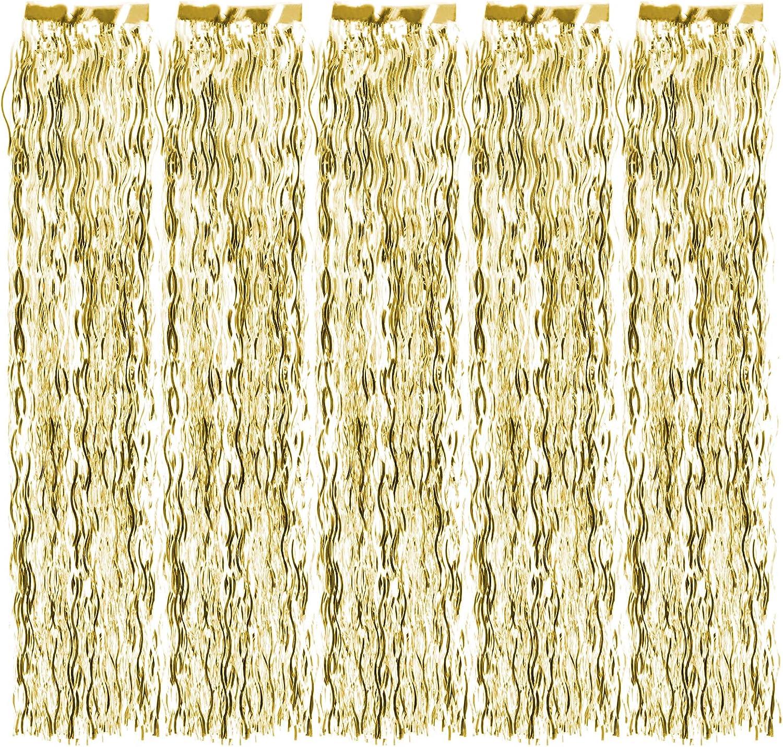 Decorazioni Natalizie per LAlbero di Natale Ghirlanda Lametta in Argento com-four/® 10x Orpelli ondulati
