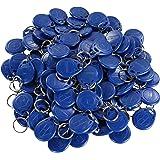 EM4100,EM4102, targhette portachiavi con RFID da125KHz, in sola lettura, 100pezzi, colore: blu