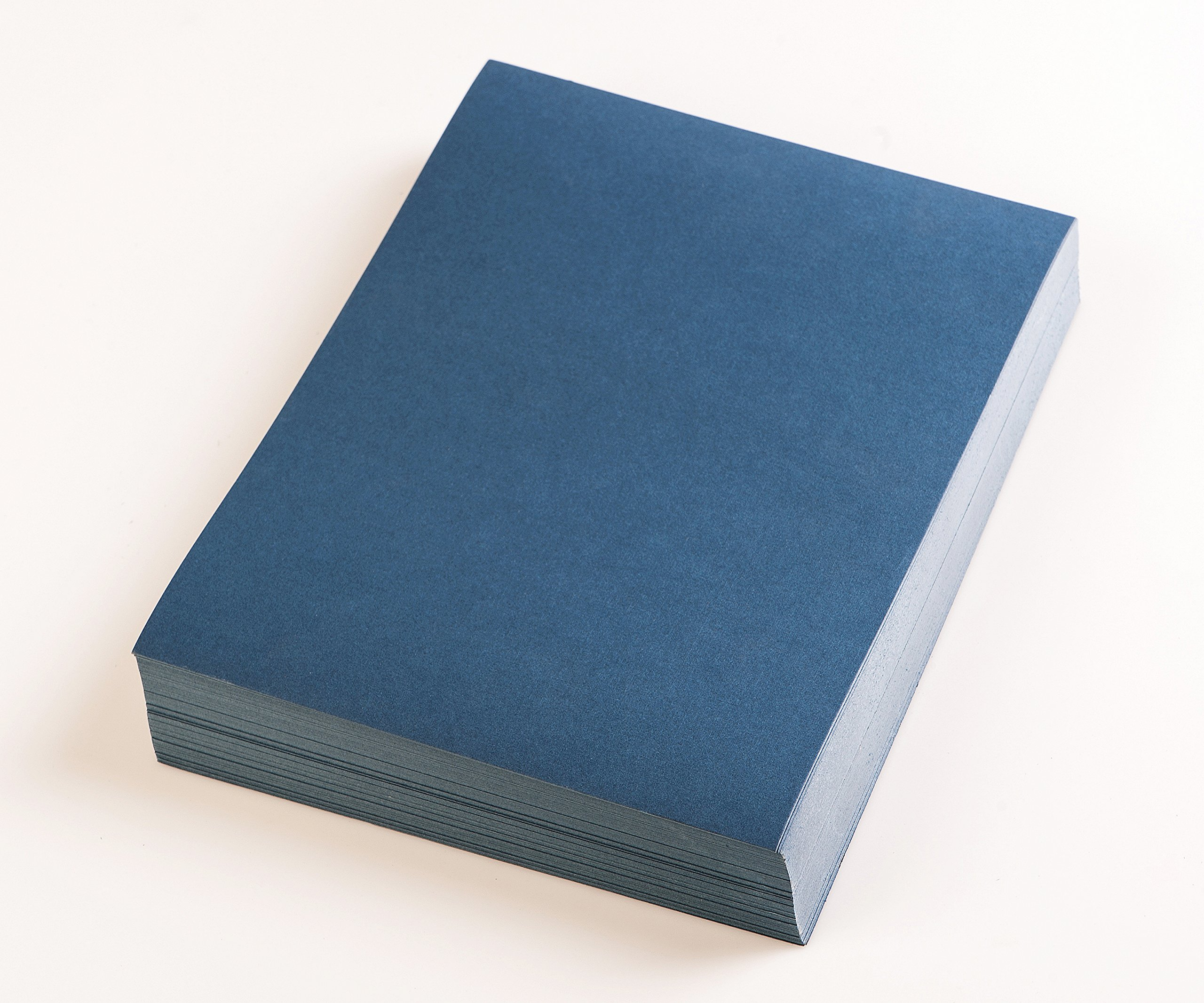 BNC Letter Size Linen Texture Presentation Covers Navy Blue Pack of 100 by BNC Office Supply (Image #3)