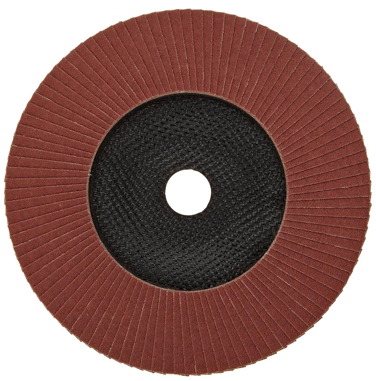 Round Hole Pack of 1 62092 Phenolic Resin Backing 7 Dia. PFERD Polifan SG Abrasive Flap Disc Aluminum Oxide 80 Grit 7 Dia Type 27