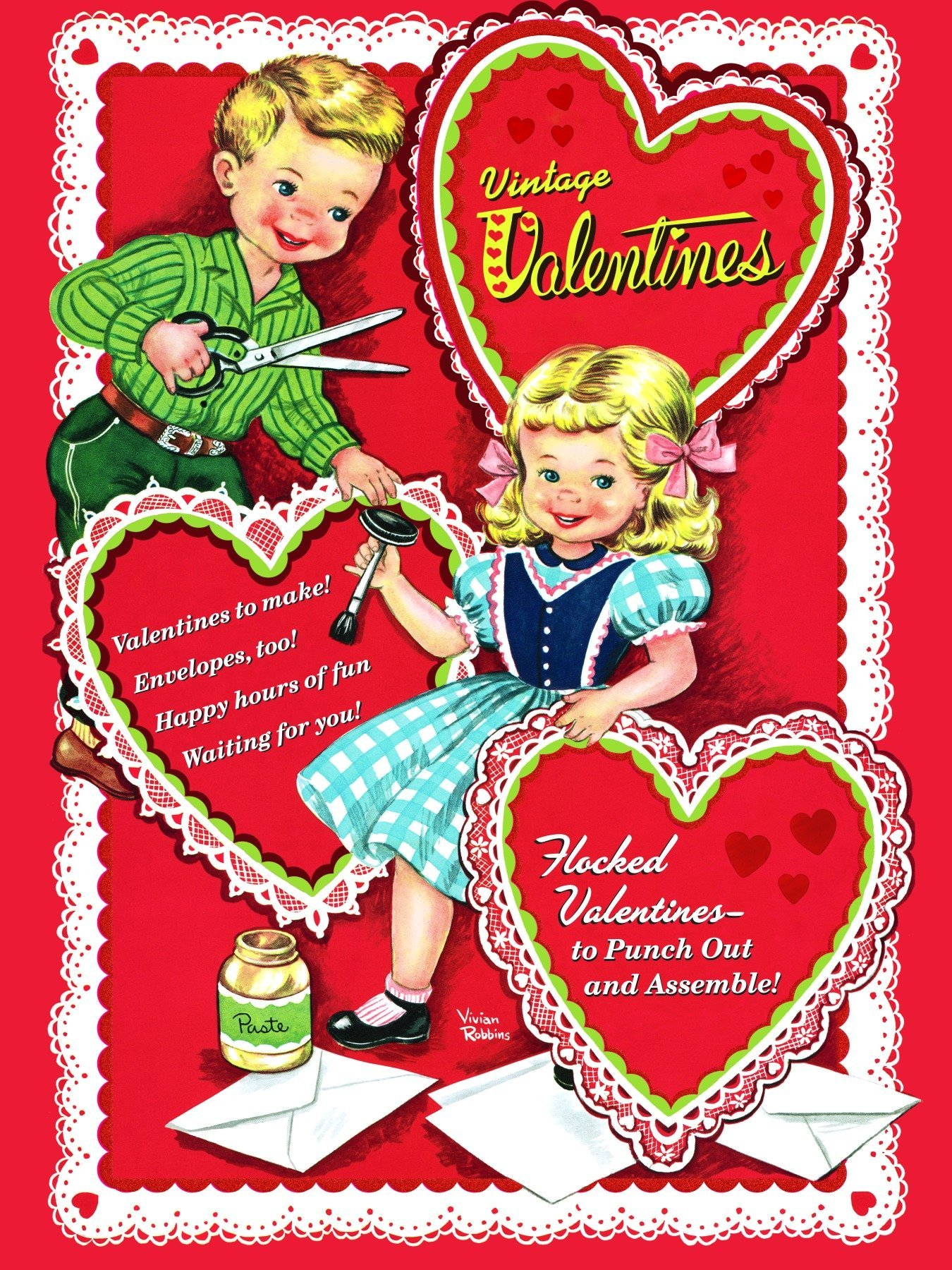 Vintage Valentines (Press Out Book) Golden Books