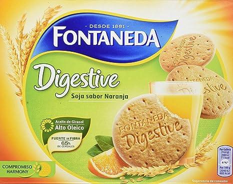 Fontaneda - Digestive - Galletas de soja y fruta - 600 g - [pack de 5]
