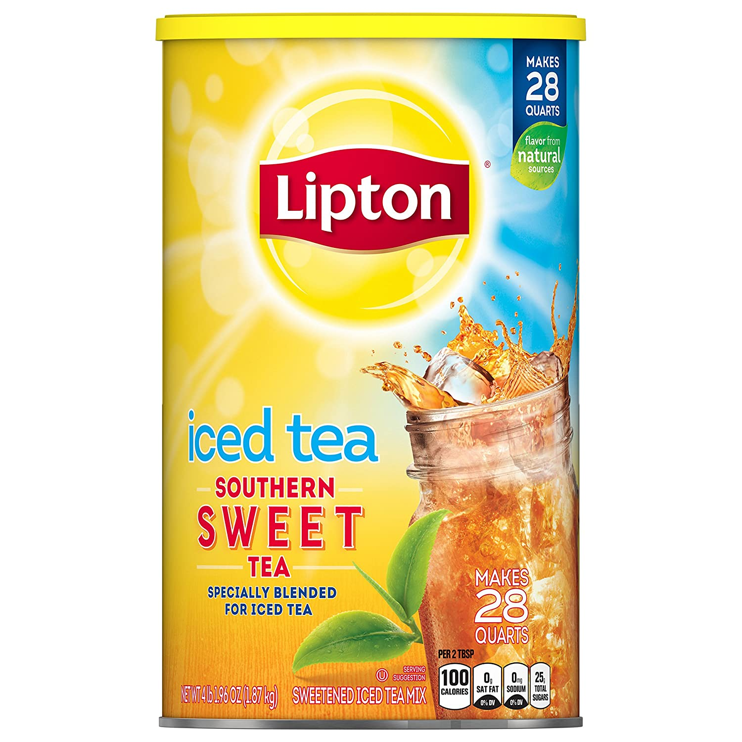 Lipton Iced Tea Mix Southern Sweet Tea 28 Qt Pack Of 4 3584 Ounce Grocery Gourmet Food