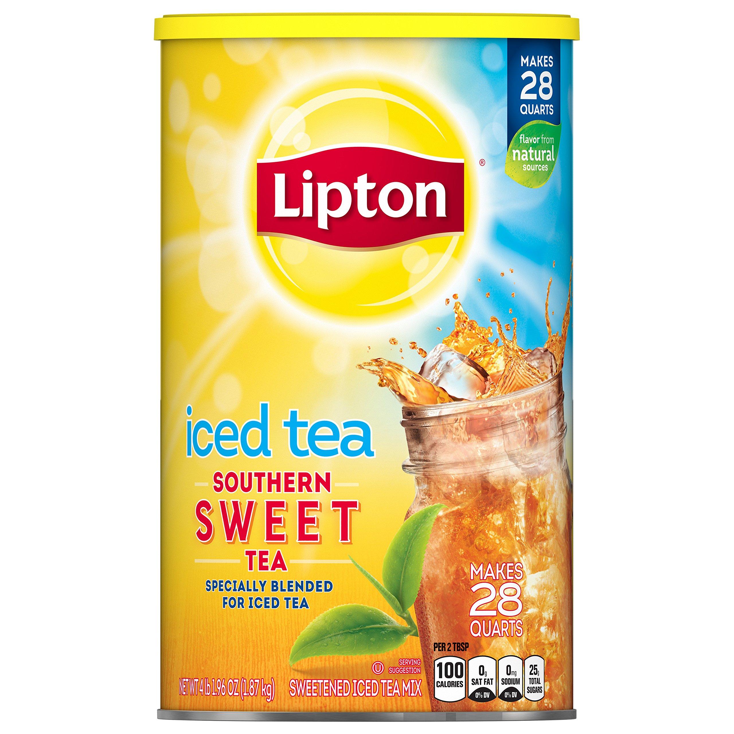 Lipton Iced Tea Mix Southern Sweet Tea, 28 qt, 1 Count