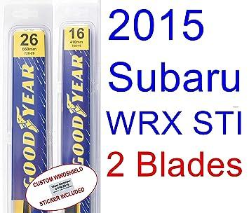 2015 Subaru WRX STI limitada de repuesto para limpiaparabrisas Set/Kit: Amazon.es: Coche y moto