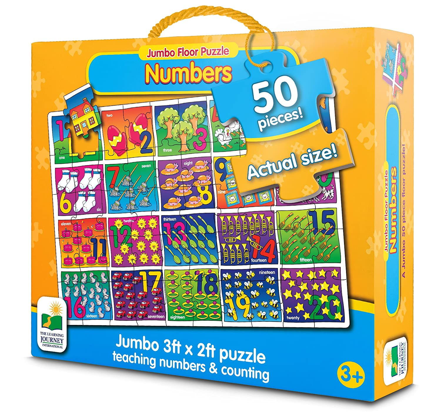 Amazon.com: The Learning Journey Jumbo Floor Puzzles, Number Floor Puzzle:  Toys U0026 Games