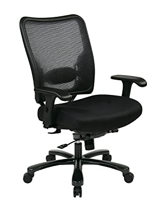 SPACE Seating Big and Tall AirGrid Back and Padded Mesh Seat