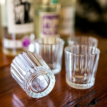 Juego de 4 vasos Mezcal | El cristal original y tradicional para mezcal o tequila | Juego de 4: Amazon.es: Hogar