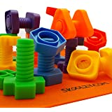 Skoolzy Nuts and Bolts Fine Motor Skills - Occupational Therapy Toddler Toys - Montessori Building Construction Kids…