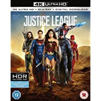 Justice League (4K UHD + Blu-ray + Digital HD) (2-Disc Set) (Region Free + Slipcase Packaging + Fully Packaged Import)