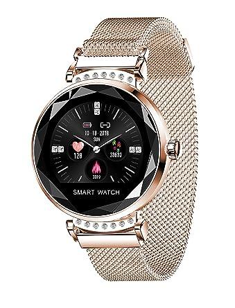 Amazon.com: H2 Smart Watch Women Bluetooth Fitness Tracker ...