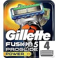 Gillette Fusion5 Proglide Power Scheermesjes, 4 Navulmesjes, Met Flexball Technologie, Volgt De Gezichtscontouren
