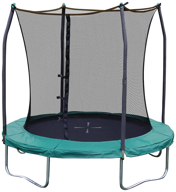 Skywalker Trampolines 244 cm Rundes Trampolin mit Sicherheitsnetz, Grün, GLT8001 Grün