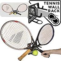 MEOLLO Tennis Racket Storage Rack Wall Mount (100% Steel)
