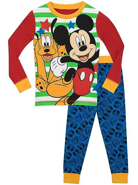 Disney - Pijama para Niños - Mickey Mouse y Pluto - Ajuste Ceñido - 2 -
