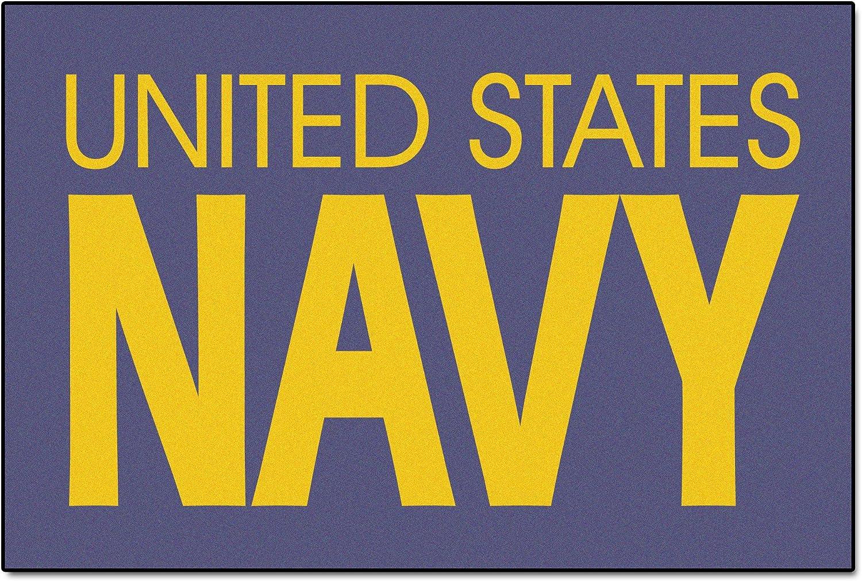 Fanmats Military  Navy Nylon Face Military Rug