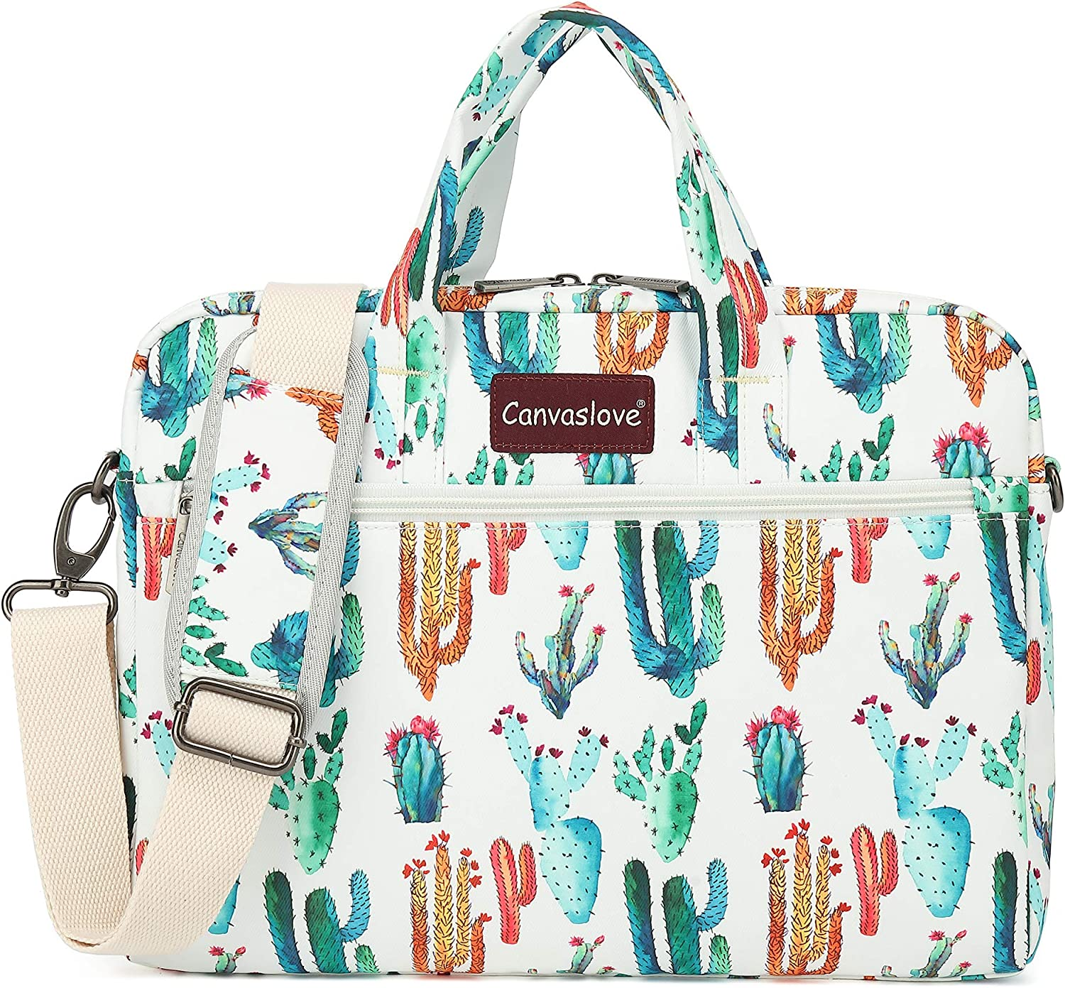 Canvaslove Laptop Shoulder Bag With Rebound Bubble Protection (11 inch-13 inch, Cactus)