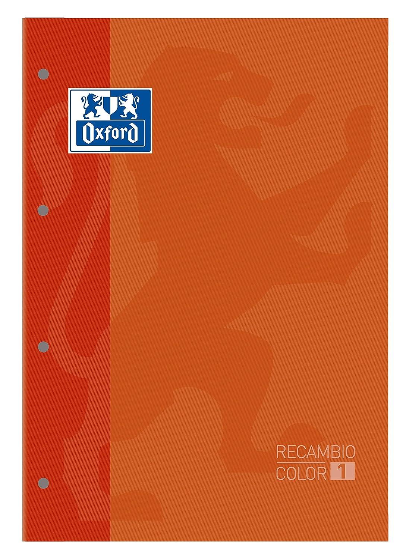 Recambio Color-1, encolado, A4, cuadriculado 5x5, naranja Hamelin Brands 400041234