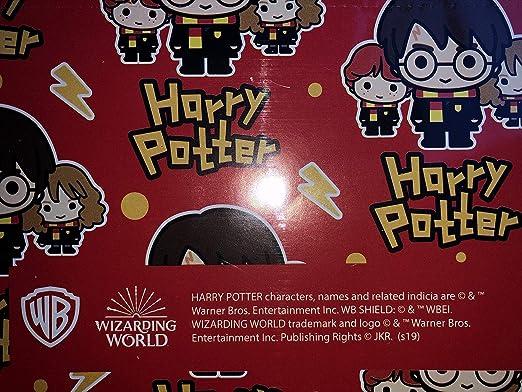 Papier cadeau Harry Potter 2 feuilles et 2 /étiquettes officiel Harry Potter par Hallmark.