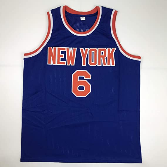 598b091e5546 Unsigned Kristaps Porzingis New York Blue Custom Stitched Basketball Jersey  Size Men s XL New No Brands Logos at Amazon s Sports Collectibles Store