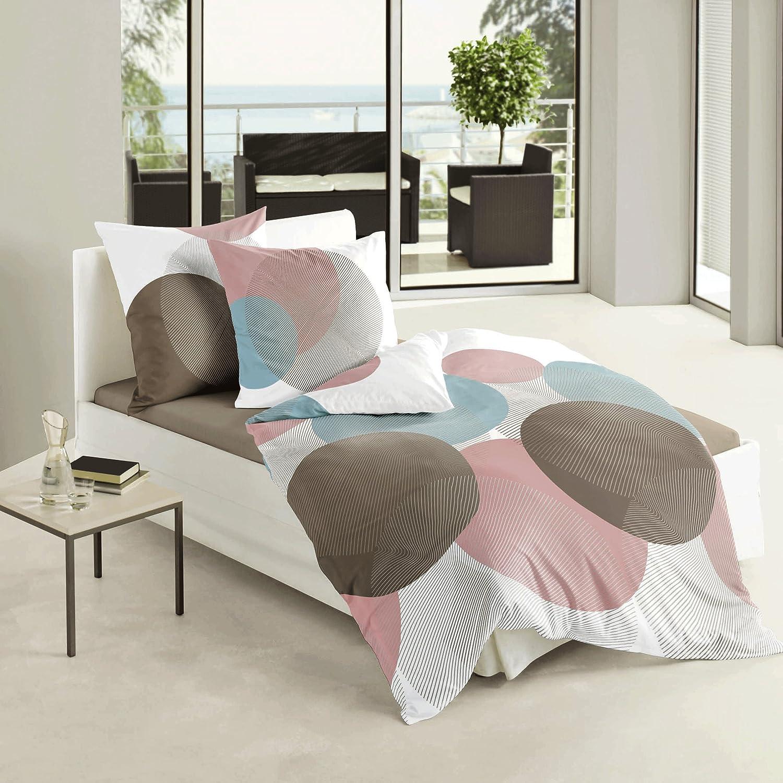 Kiwi colore copripiumino singolo 135 x 200 cm e federe 80 x 80 cm Bierbaum 6155/_06 lenzuola singolo in satin di cotone mak/ò