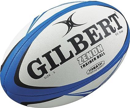 Gilbert Zenon - Balón de Entrenamiento de Rugby Bleu/Noir Talla ...