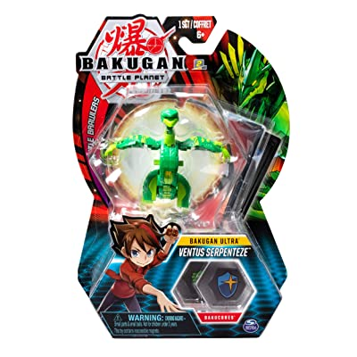 Bakugan Ultra, Ventus Serpenteze, 3-inch Tall Collectible Transforming Creature, for Ages 6 and Up: Toys & Games [5Bkhe0805782]