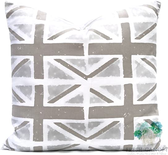 Taupe And Beige Accent Pillow   Premier Prints Union Jack Ecru Pillow Cover    20 Different