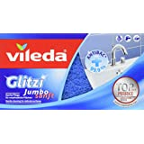 Vileda Glitzi Jumbo Smooth Cleaning Pads for Cleaning Large Surfaces and the Bathroom