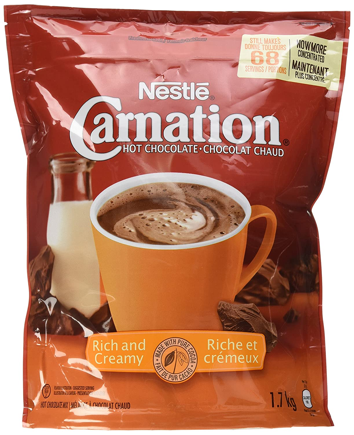 Amazon Com Carnation Rich And Creamy Hot Chocolate Mix 1 7 Kg