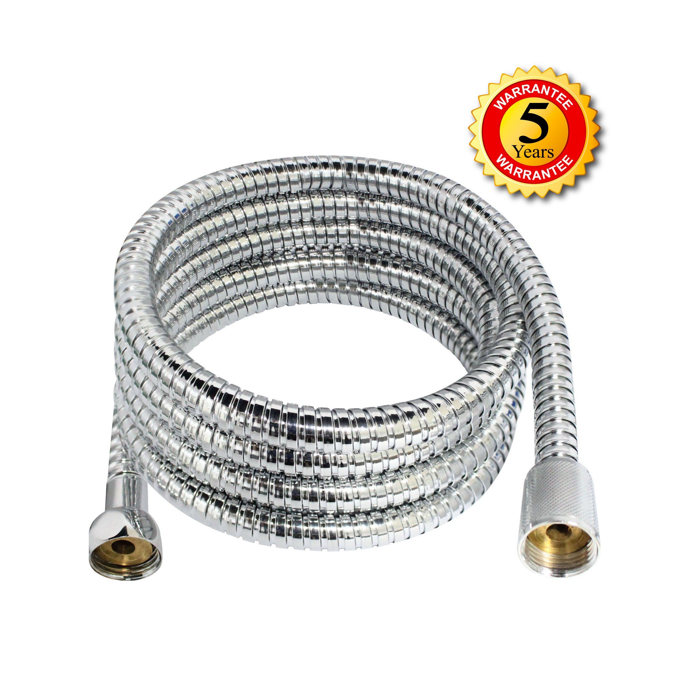 MODONA 72'' (6 Feet) Stainless Steel Replacement Shower Hose with BRASS Fittings - 5 Year Warrantee