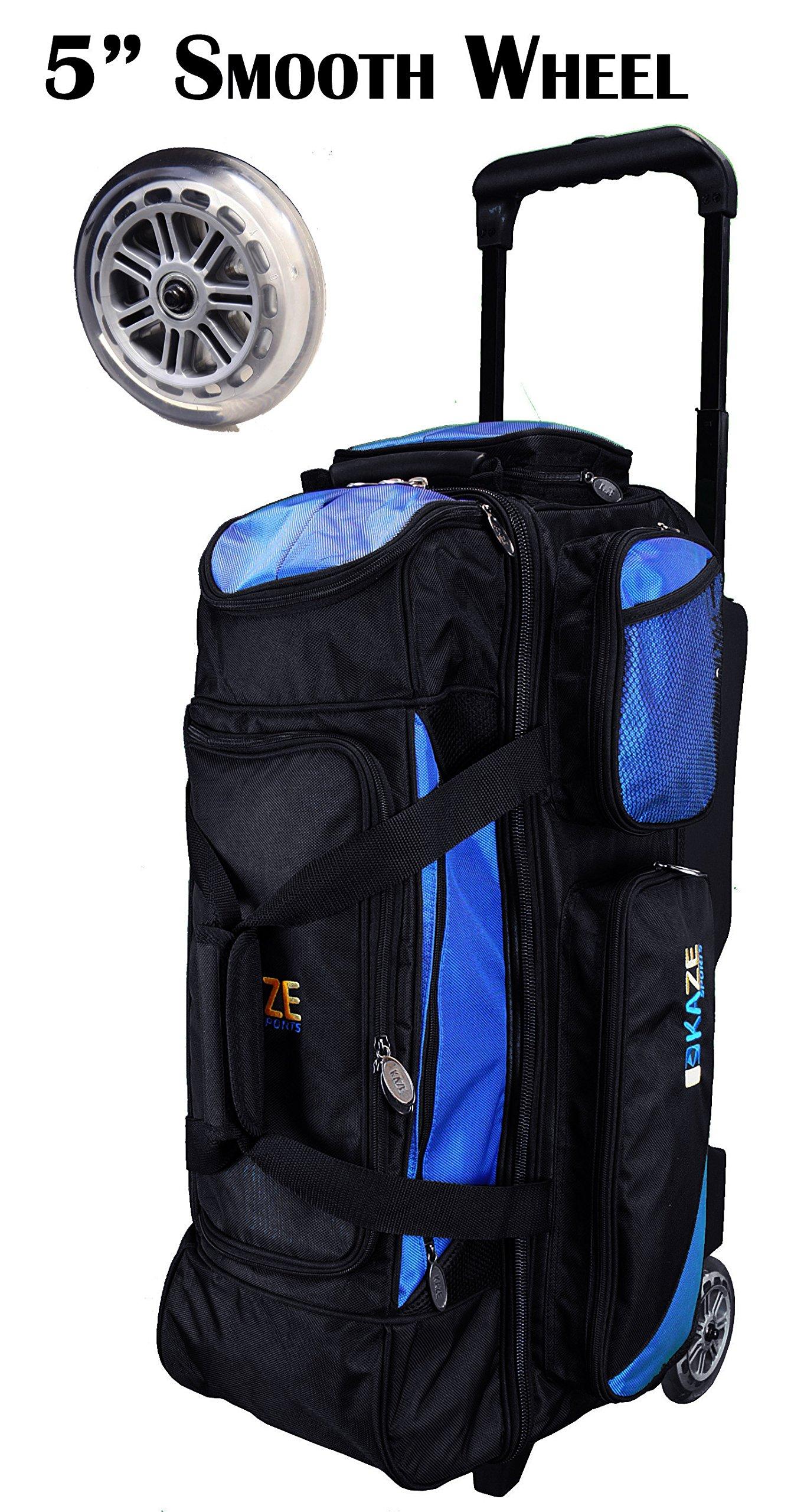 KAZE SPORTS 3 Ball Bowling Roller (Blue-Black)