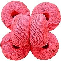 M.G 100% Acrylic Wool Gajri Baby Soft Wool Ball Hand Knitting Wool/Art Craft Soft Fingering Crochet Hook Yarn, Needle Knitting Yarn Thread Dyed