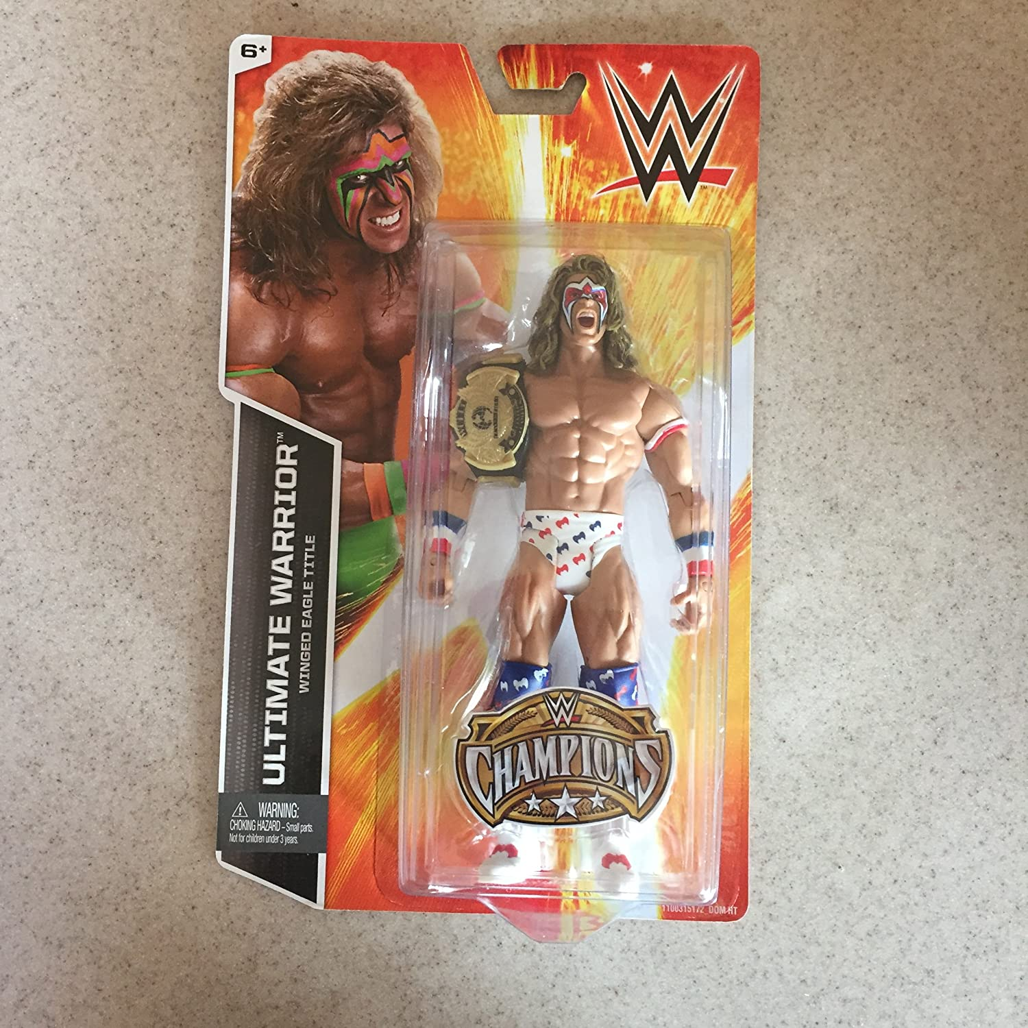 Winged Eagle Title WWE Wrestling Champions Ultimate Warrior Exclusive Action Figure