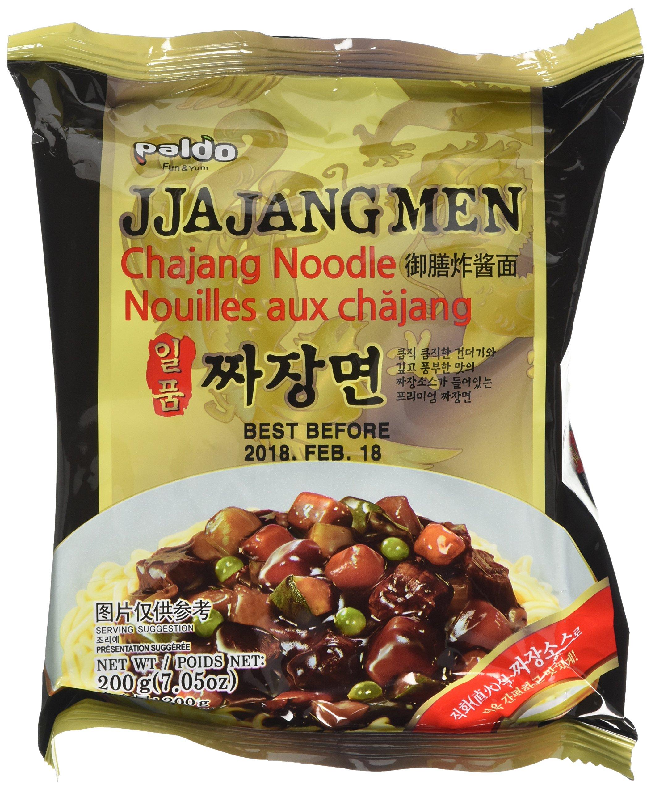 Paldo Ilpoom Jia Jangmen (Chajang Noodle) 200g (Pack of 4)