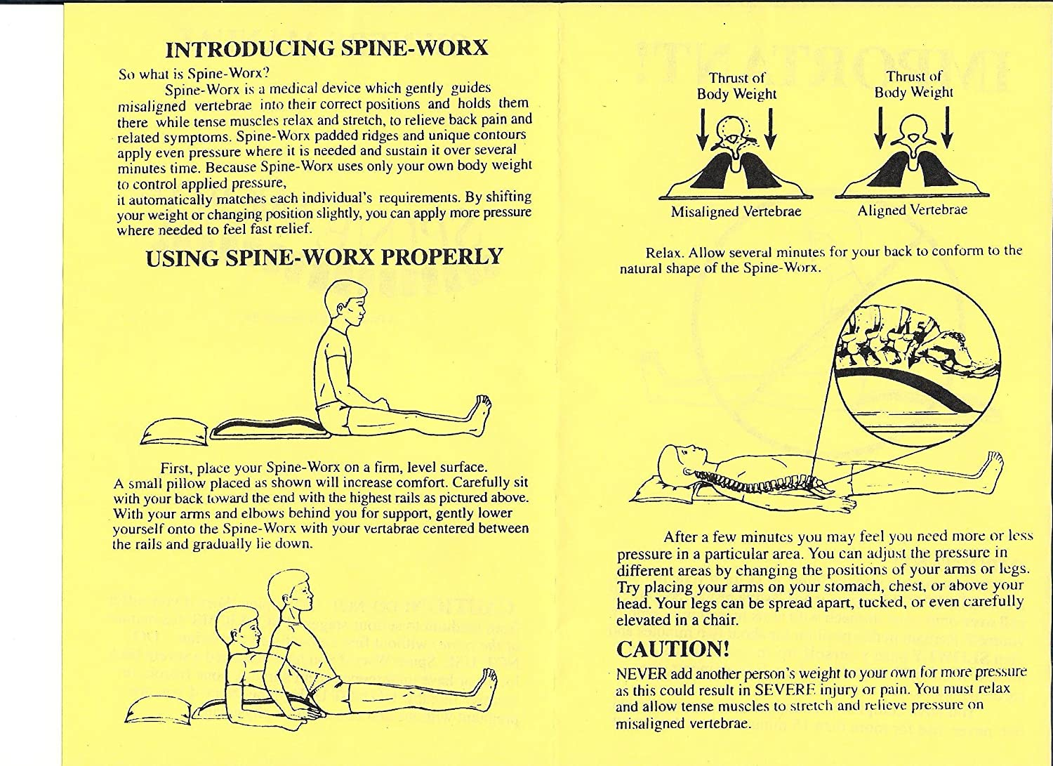 amazon com spine worx back realignment device health personal care