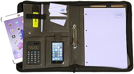 disponibilità nel Regno Unito a88df c2277 Cartella Portadocumenti A4 ad Anelli con Block Notes e ...
