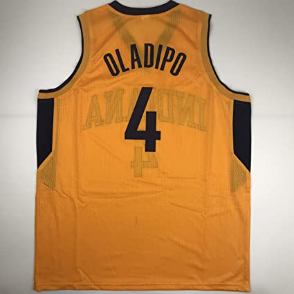 on sale 916c0 2f4b1 Unsigned Victor Oladipo Indiana Yellow Custom Stitched ...
