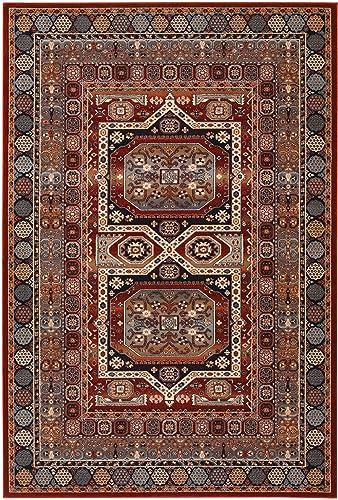 Couristan 4324 0500 Timeless Treasures Maharaja Area Rugs, 4-Feet 6-Inch by 6-Feet 6-Inch, Ebony