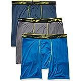 Hanes Men's X-Temp 4-Way Stretch Mesh Long Leg Boxer Brief 3-Pack Underwear