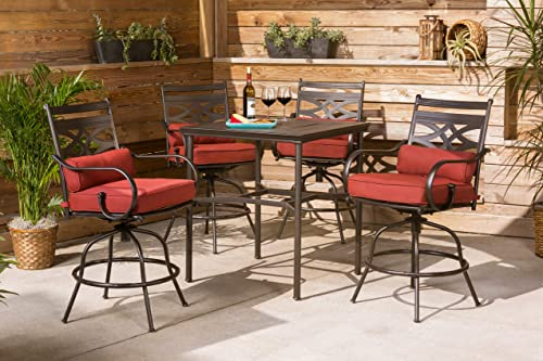 Hanover MCLRDN5PCBR-CHL Montclair 5-Piece High-Dining Patio Set