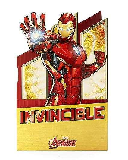 Tarjeta de cumpleaños desplegable con diseño de Iron Man ...