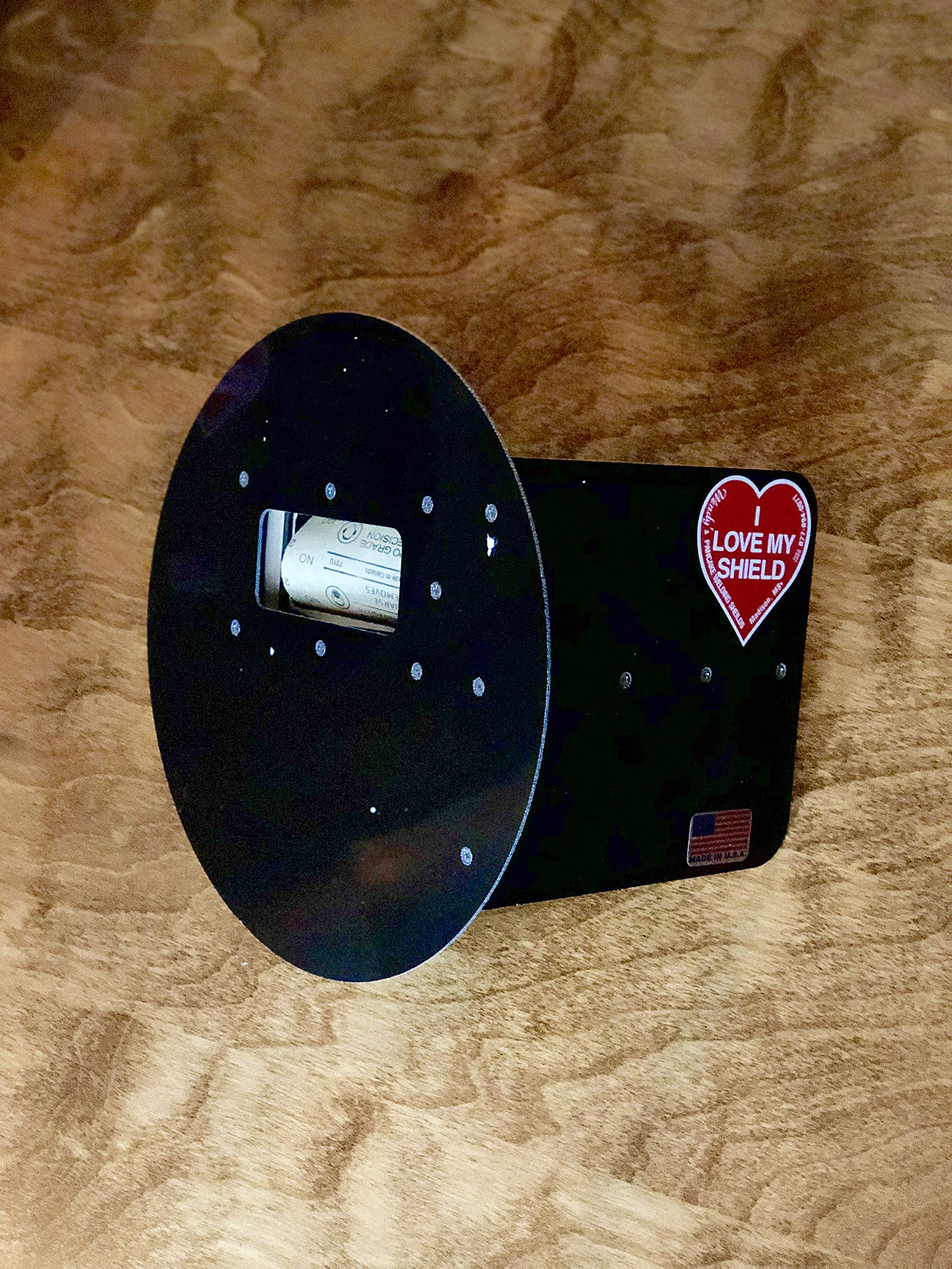 Wendy's Pancake Welding Hood Helmet w/Strap - Right Handed - BLACK