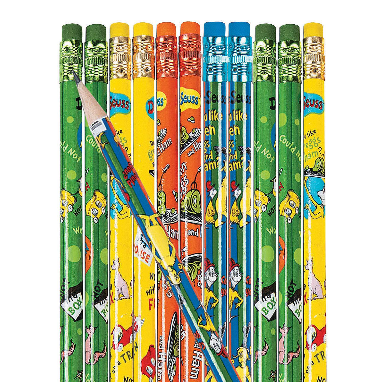 Fun Express - Dr. Seuss Green Eggs & Ham Pencils - Stationery - Pencils - Pencils - Printed Assortments - 144 Pieces by Fun Express (Image #1)