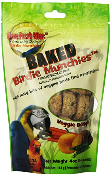 Oven Fresh Bites Birdie Munchies Pet Treat, 4-Ounce