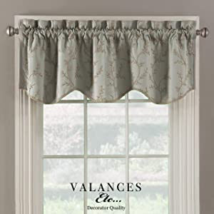Valances etc. Prairie Embroidered Lined Decorator Quality Valance 52